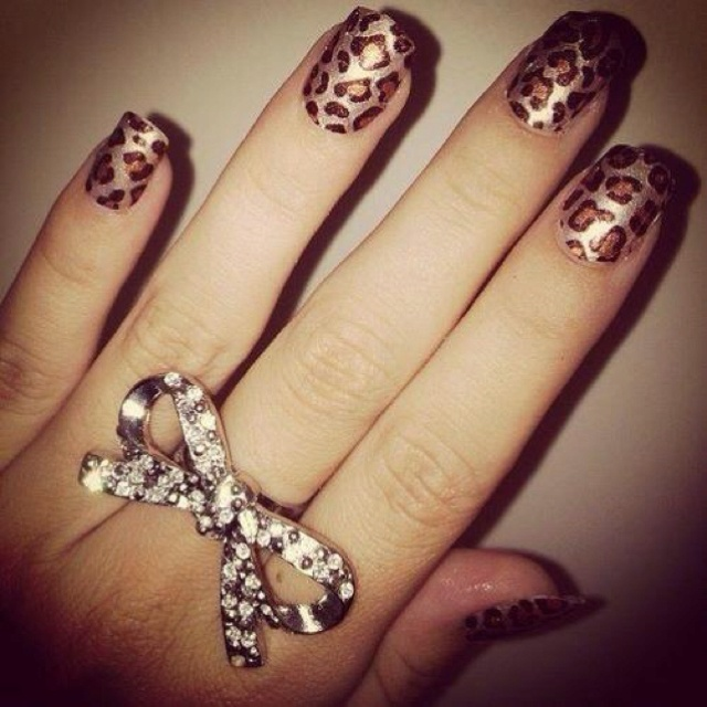 OMG Laur we have this ring! Cute nails too! @Lauren Brough