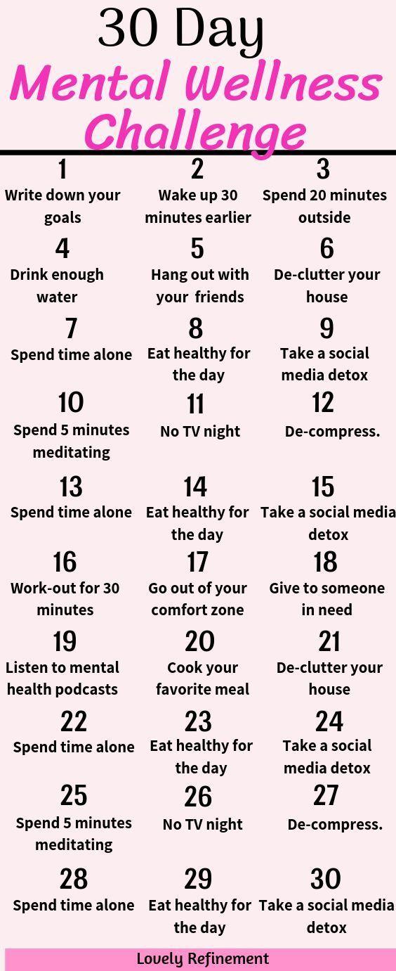 30 Tage Mental Wellness Challenge Ich habe diese 30 Tage Mental Wellness Challenge …   – wedding