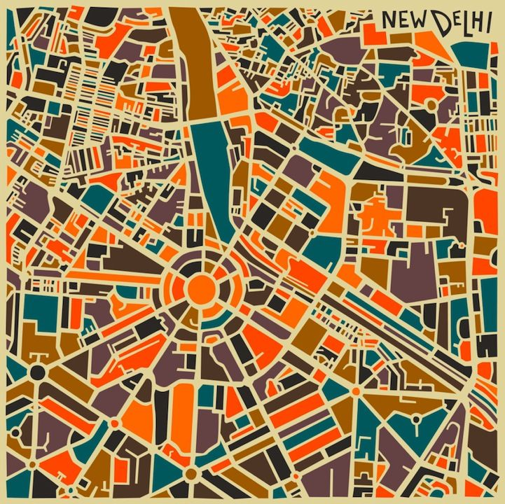 Bold Geometric Patterns Form Abstract City Maps - My Modern Metropolis