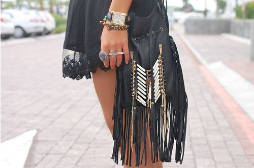 FringeFringes Bags, Fashion, Style, Clothing, Closets, Bags Pur, Accessories, Purses, Black