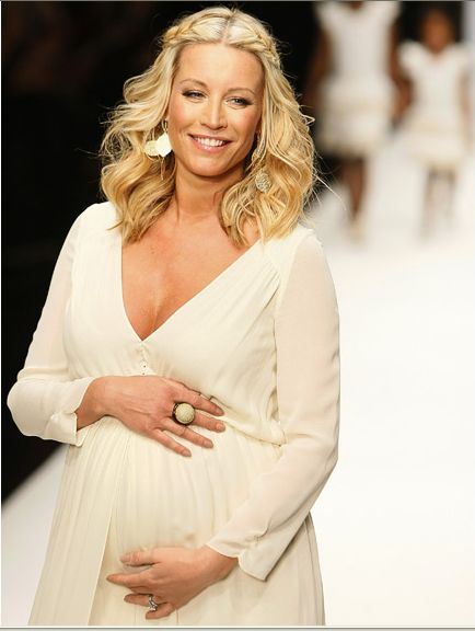 Heavily pregnant, Denise Van Outen looked stunning in a Jasmine di Milo gown, worn at the Fashion Relief for Haiti event. She received a rapturous applause, as she went down the catwalk.