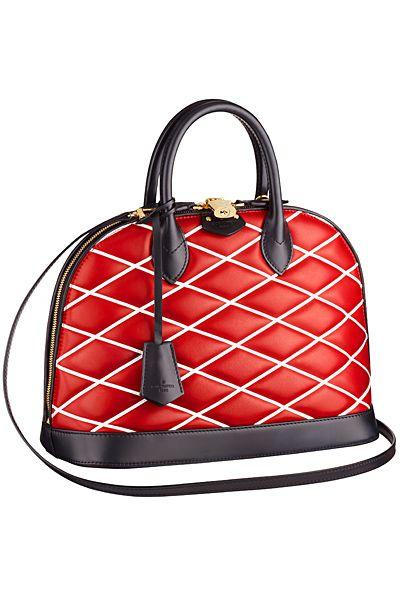 Louis Vuitton Red Alma Malletage PM Bag -Cruise 2015