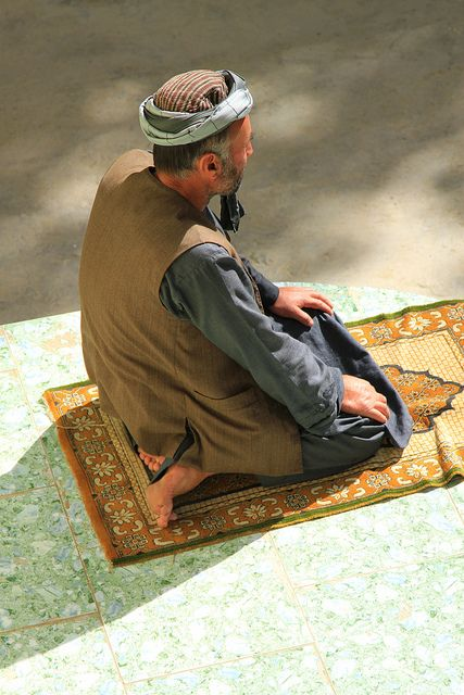 Time to pray . Afghanistan