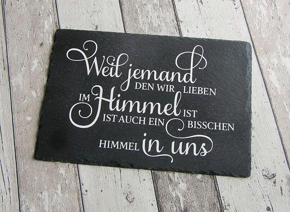 """Schieferplatte mit Spruch """"Himmel"""" aus der Manufaktur KarLa"""