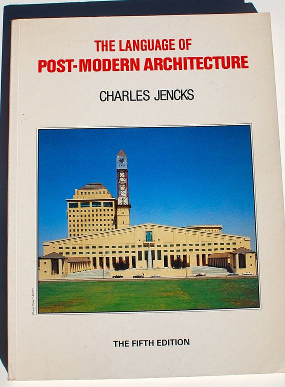 The Language Of Post Modern Architecture Charles Jencks Fifth Etsy Post Modern Architecture Modern Architecture Architecture