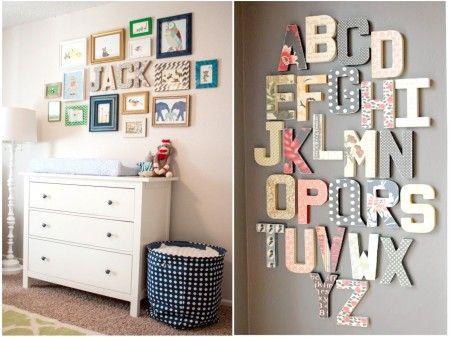 Letras para dar vida a la pared #habitaciones #infantiles
