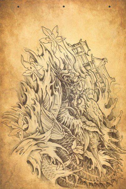 Фотография | Dragon | Pinterest | Oriental, Tattoo and