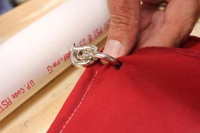 diy pvc draping | Place the screw hooks through the PVC pipe at the holes. Make a small ...