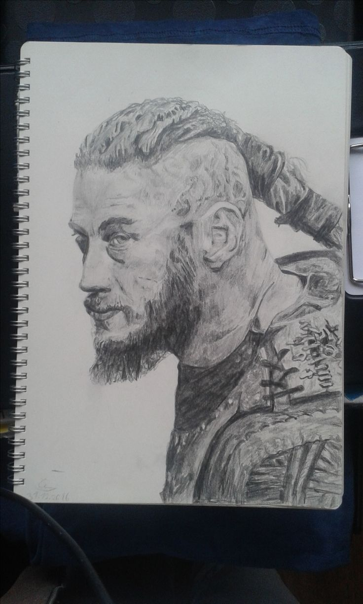 Ragnar Lothbrok pencil drawing