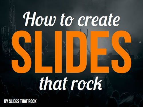 Another really inspiring slide deck. Made from www.slidesthatrock.com