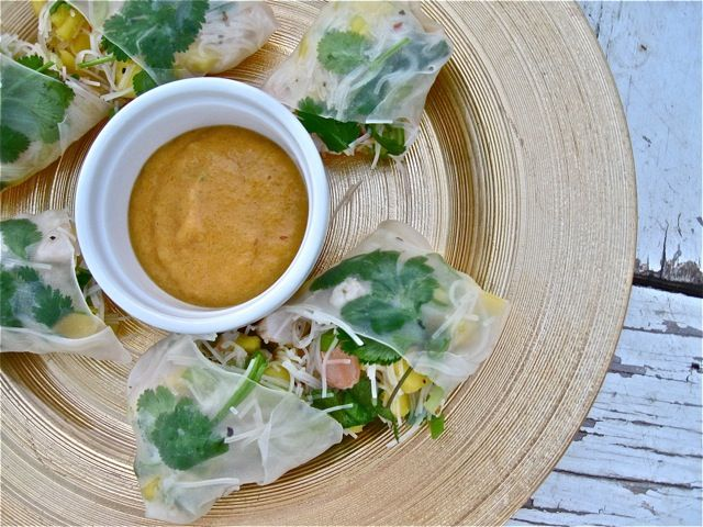 Cambodian-Style Shrimp & Mango Spring Rolls | (just leave out the ...