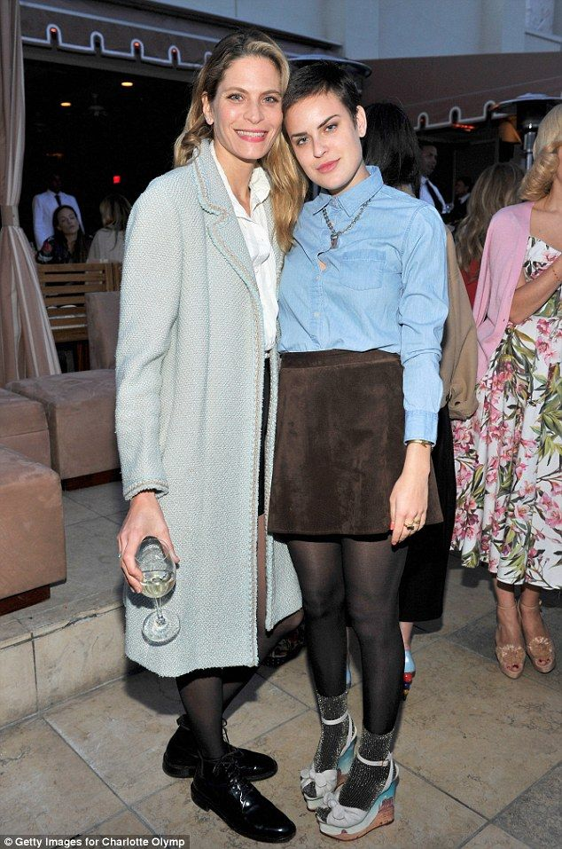 In good company: Tallulah also bumped into Sports Illustrated modelFrankie Rayder...