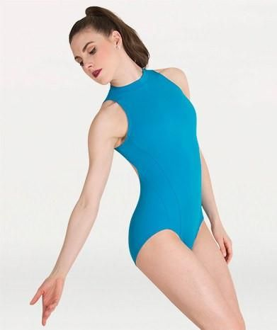 Body Wrappers P1210 Mock Neck Open Back Leotard
