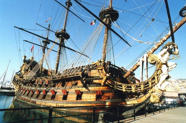 """The famous """"Galeone"""" moored at Expò.Porto Antico, very close to Acquario di Genova"""