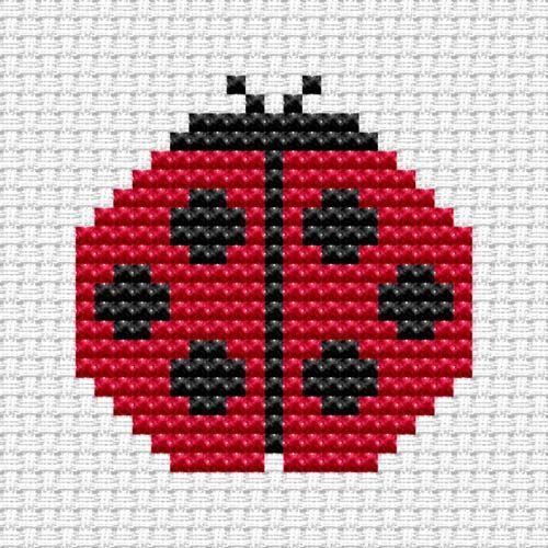 Easy Peasy Ladybird Cross Stitch Kit   Childrens Cross Stitch Kits ...