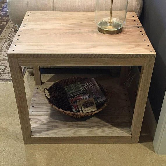 Rustic Contemporary Iron Ash End Table Rustic Contemporary