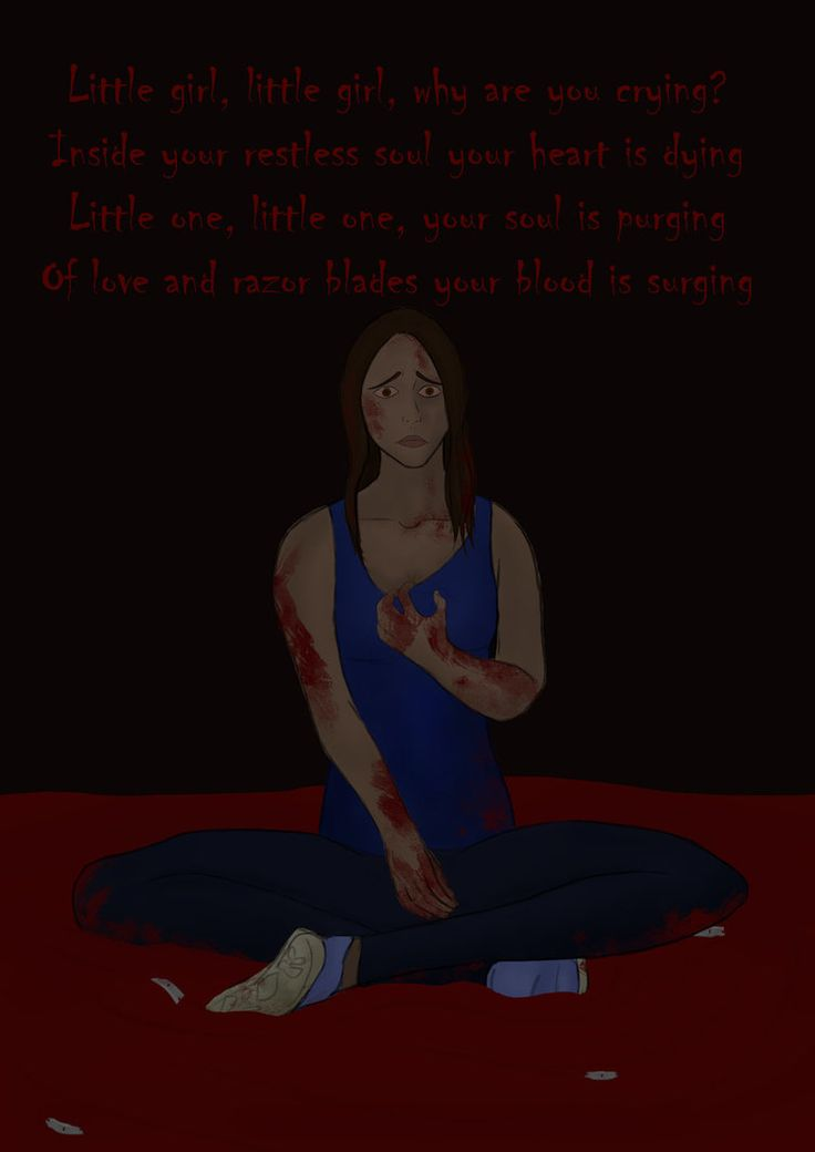 TRIGGER WARNING: Blood and razor blades/self harm reference?    Viva La Gloria? (Little Girl) by warrior-princess46 >>> was feeling shitty and kind of vented through drawing?