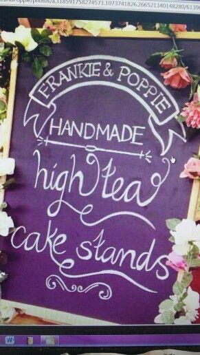 Frankie & Poppie vintage cake stands above Grandmas graden shop open Sundays . etc.email frankieandpoppie@live.com