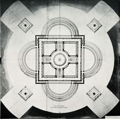 Étienne-Louis Boullée, Plan for a Museum