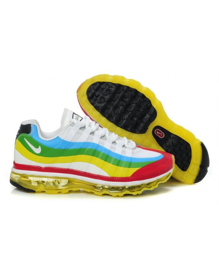 outlet store a0ace 4da05 Nike Air Max 95 Rainbow Green Yellow Blue Shoes
