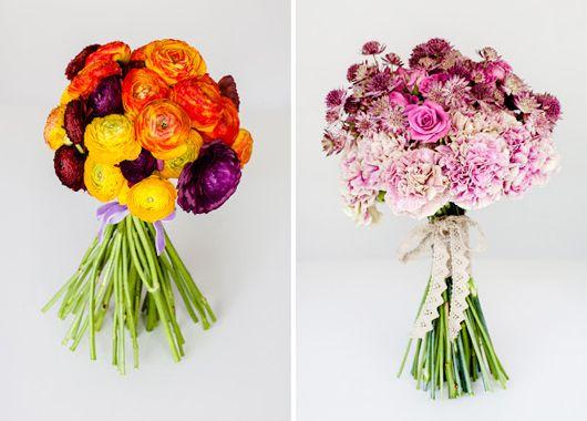 Ramo de novia en colores rosas y naranjas de The Workshop Flores