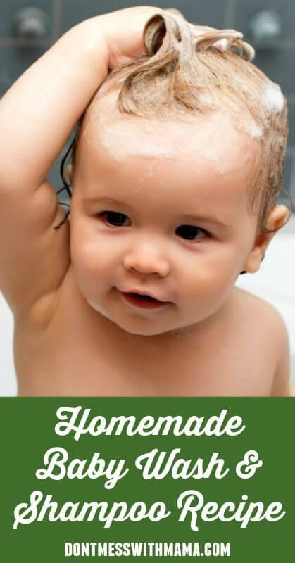 Natural Homemade Baby Wash and Shampoo