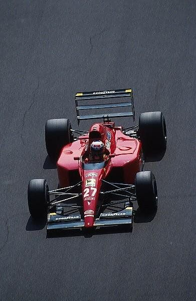 Alain Prost took 3rd in his Ferrari 643, less than a second behind Senna at the finish