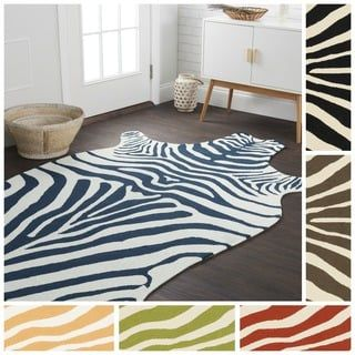 Shop for Indoor/ Outdoor Hand-hooked Savannah Zebra Rug (3'6 x 5'6). Get free shipping at Overstock.com - Your Online Home Decor Outlet Store! Get 5% in rewards with Club O! - 16801669