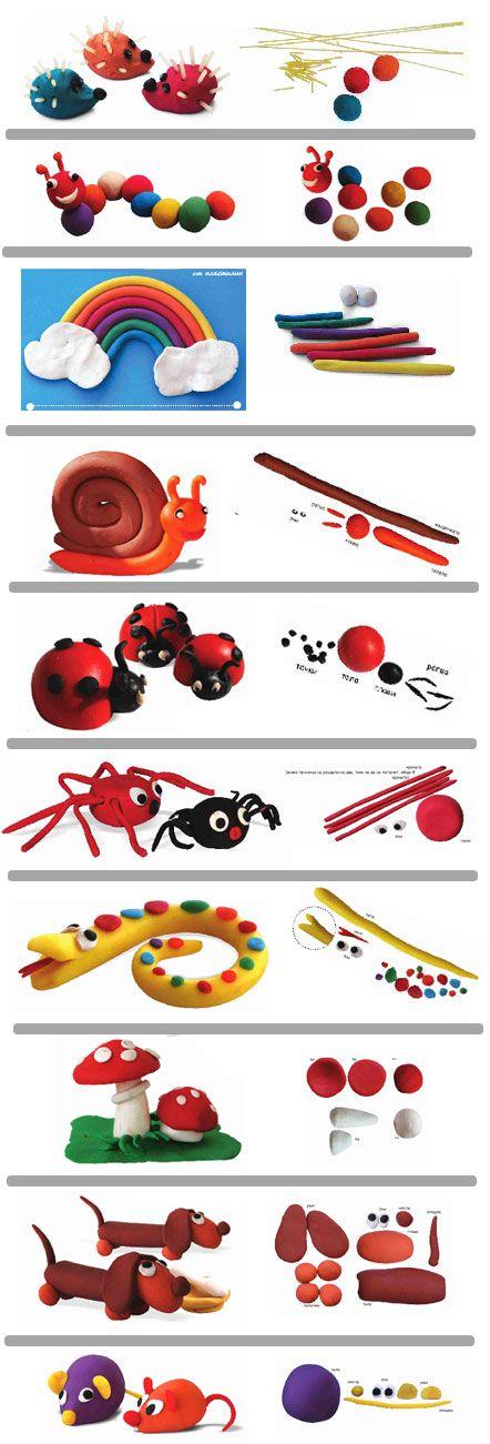 #Manualidades con #Plastilina para los más pequeños... paso a paso. Ideales! #papeleriamiguelturra