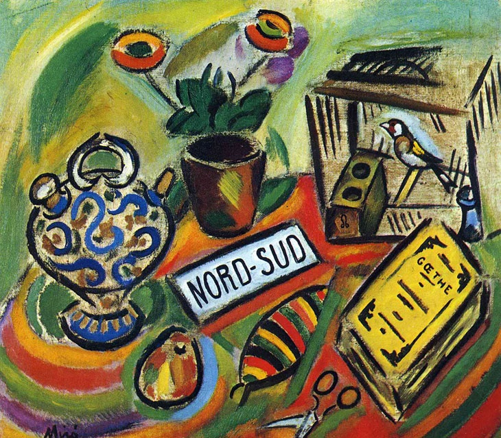 Joan Miró    Kuzey Güney / North South    1917. Tuval üzerine yağlıboya. 62 x 70 cm. Private Collection.