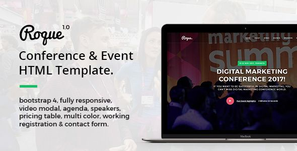 Roque Conference Event Html Template Html Templates