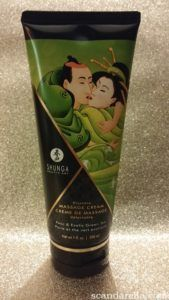 Shunga Kissable Massage Cream in Pear & Exotic Green tea