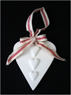 Scented clay heart