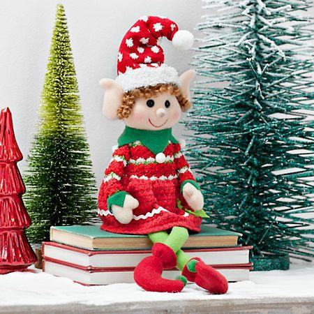 Plush Girl Elf Sitter   Kirklands