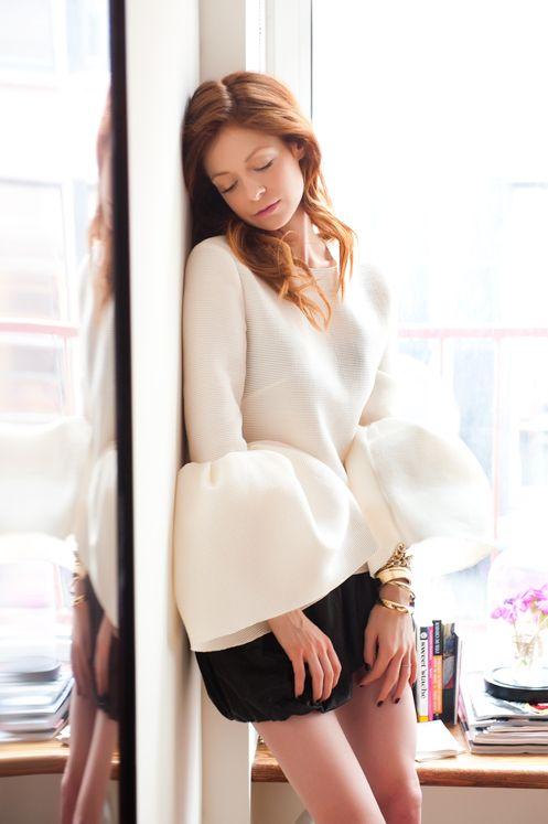 Love this top: Mirror, Blouses, Stephanie Lacava, Cloud, Roksanda Ofthe, New York, Stephanielacava, Belle Sleeve, Style Fashion