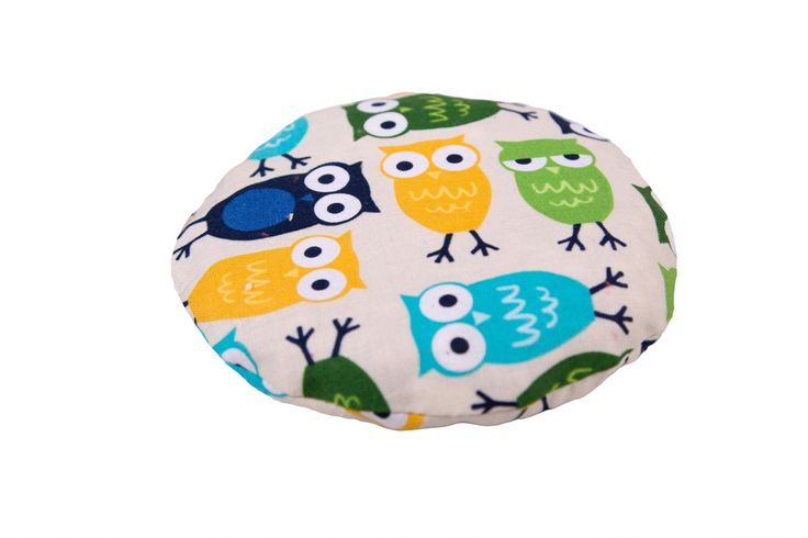 Termofor z pestkami wiśni SOWY NIEBIESKIE Warmer with Cherry Stones Blue Owls https://fiorino.eu/
