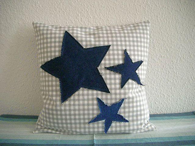 Kissenbezug 40x40 cm Sterne von Nähwittchen auf DaWanda.com
