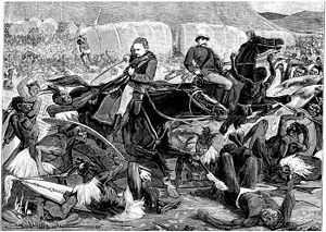On 11 December 1878, agents of the British delivered an ultimatum to 14 chiefs representing Cetshwayo. The terms of the ultimatum were unacceptable to Cetshwayo. British forces crossed the Tugela river at the end of December 1878. Initially, the British suffered a heavy defeat at the Battle of Isandlwana on 22 January 1879 where the Zulu army killed more than 1,000 British soldiers in a single day.