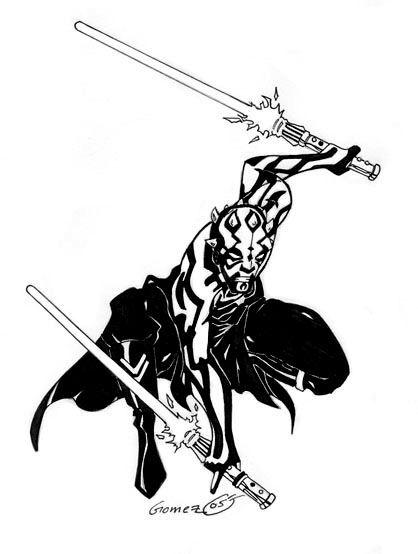 Darth Maul - Inked by DarthZemog | LineArt: Star Wars ...
