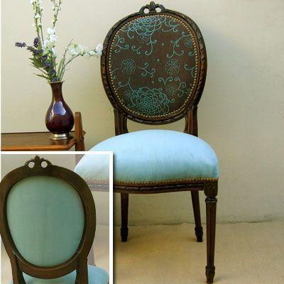 M s de 25 ideas incre bles sobre sillas restauradas en for Sillas antiguas tapizadas modernas