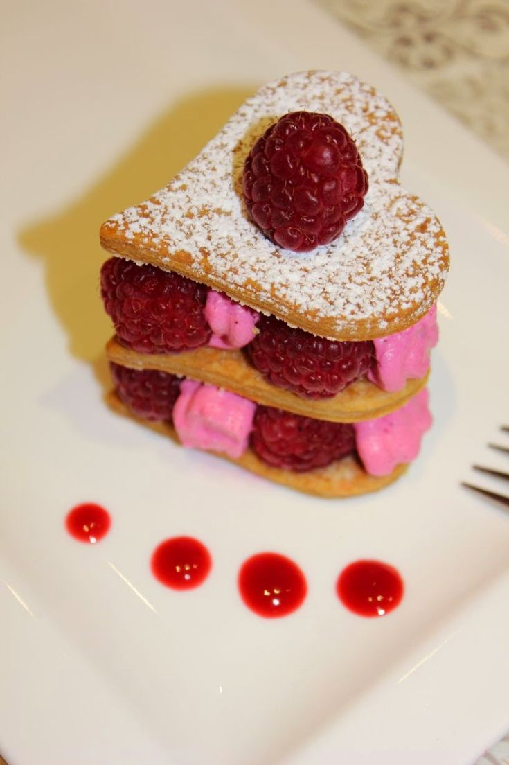Millefeuille framboises chantilly