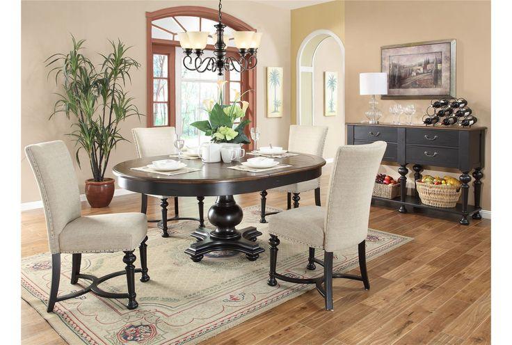 Linden 5 Piece Round Dining Set