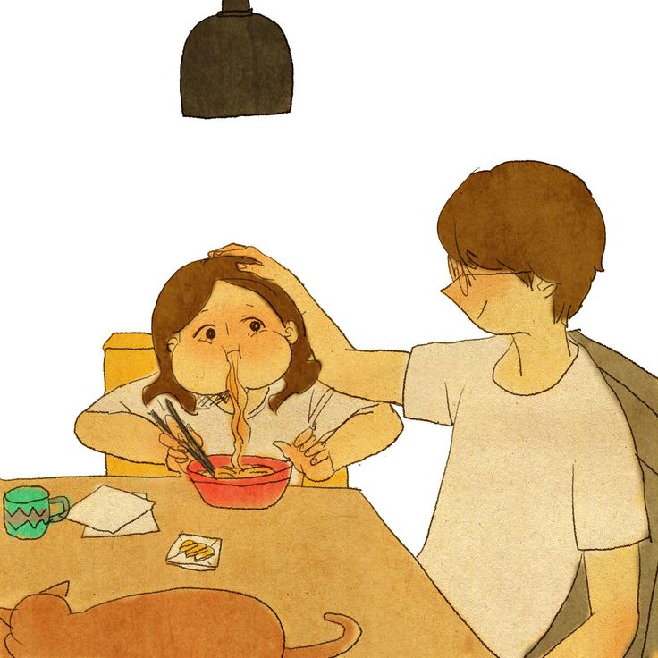 """♥ SLURP! ~ """"You must be VERY hungry… Go ahead, eat up!"""" ♥ by Puuung at…"""