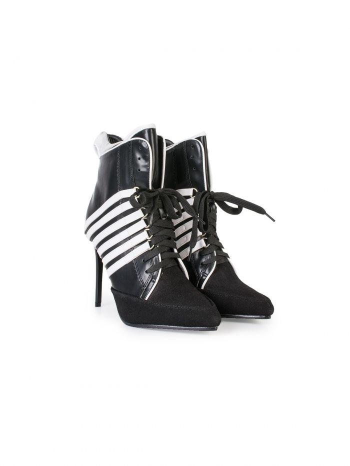 0eeff46ae28 BS147 Μποτάκι με λεπτό τακούνι και κορδόνια - Decoro - Γυναικεία ρούχα,  γυναικεία παπούτσια,