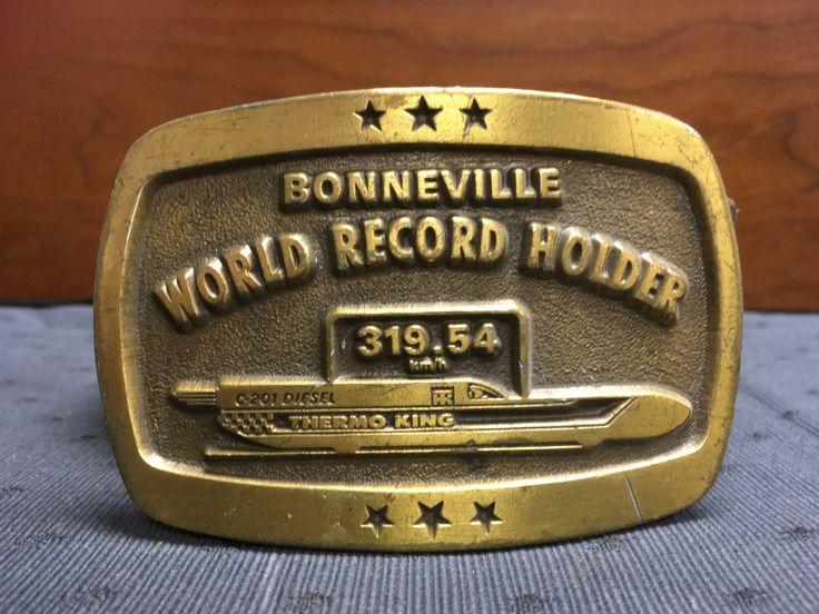 1975 Bonneville World Record Holder Belt Buckle by TheCreakyHinge on Etsy