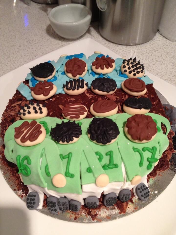 Rugby birthday cake for any rugby fan!