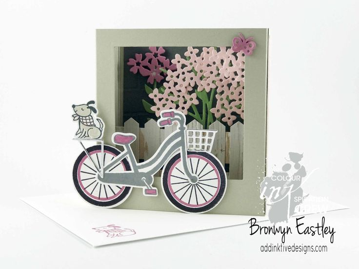 Colour INKspiration Challenges, Shadow Box Card, Bike Ride, Stampin' Up!, Bronwyn Eastley, addinktivedesigns.com