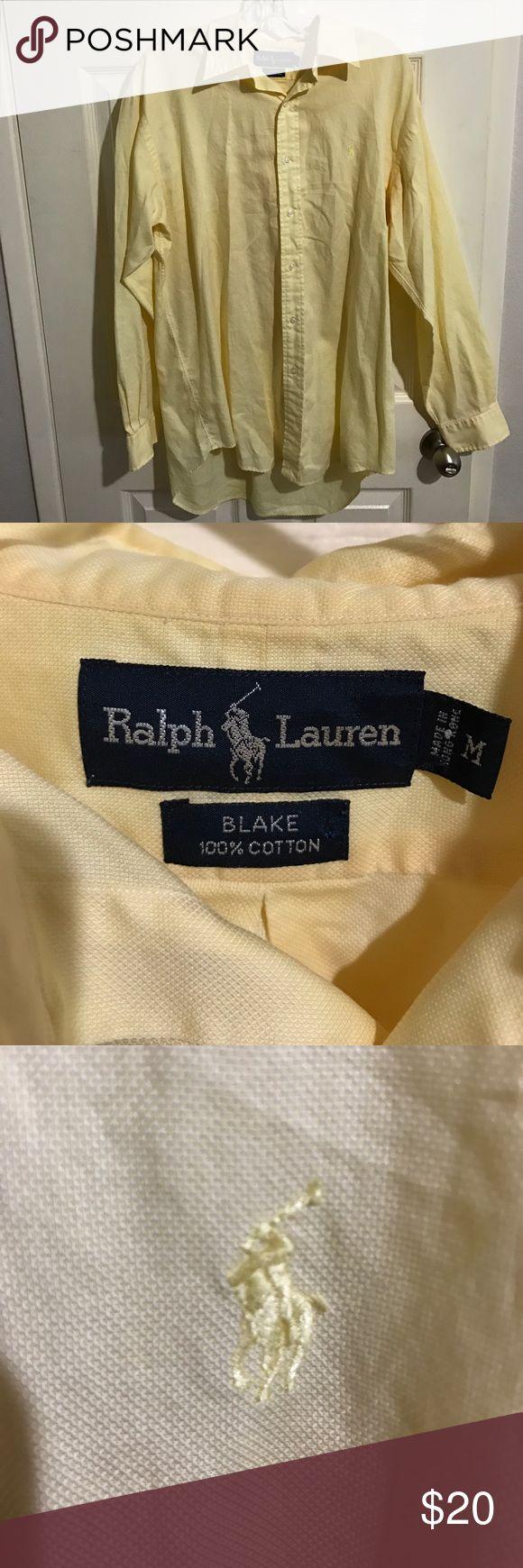 "Ralph Lauren ""Blake"" 100% Cotton Button Down Shirt Ralph Lauren Button Down Shirt ""Blake"" 100% cotton, excellent condition. Very Nice Shirt, great color, logo is same color as shirt. Size M Make an Offer! Ralph Lauren Shirts Casual Button Down Shirts"