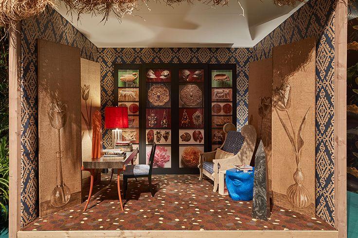 The English Study by Ashley Hicks: Corian Cabana Club, Milan Design Week 2017