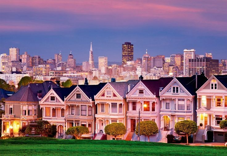 Painted Ladies, San Francisco - 1500 Teile - EDUCA Puzzle